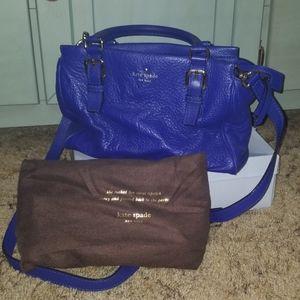Kate Spade blue satchel with crossbody strap